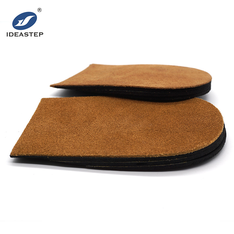 Orthopedic leather heel lifts sweaty height increasing insoles