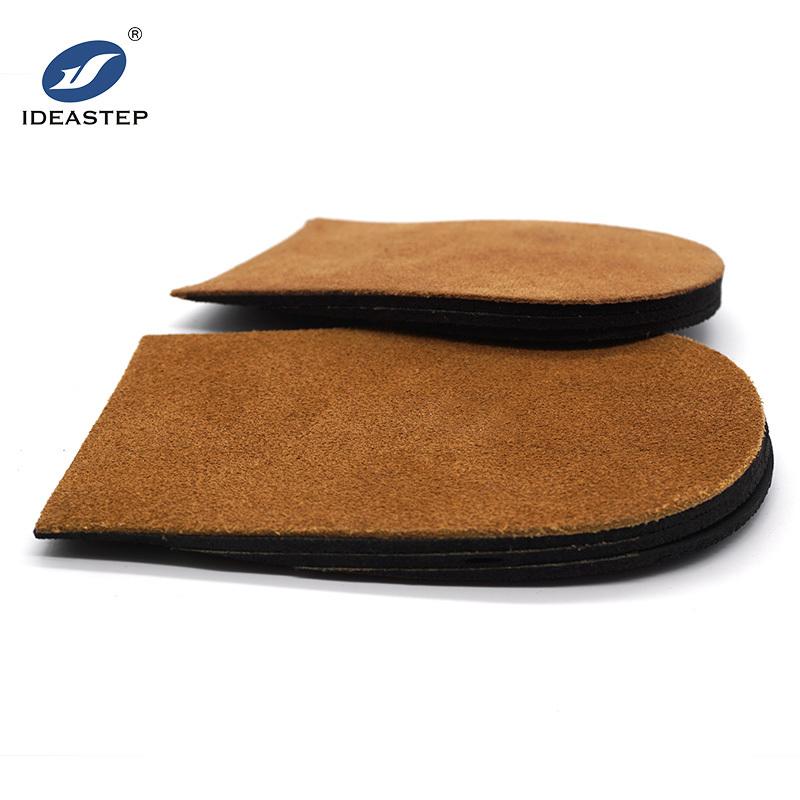Orthopedic leather heel lifts sweaty height increasing insoles