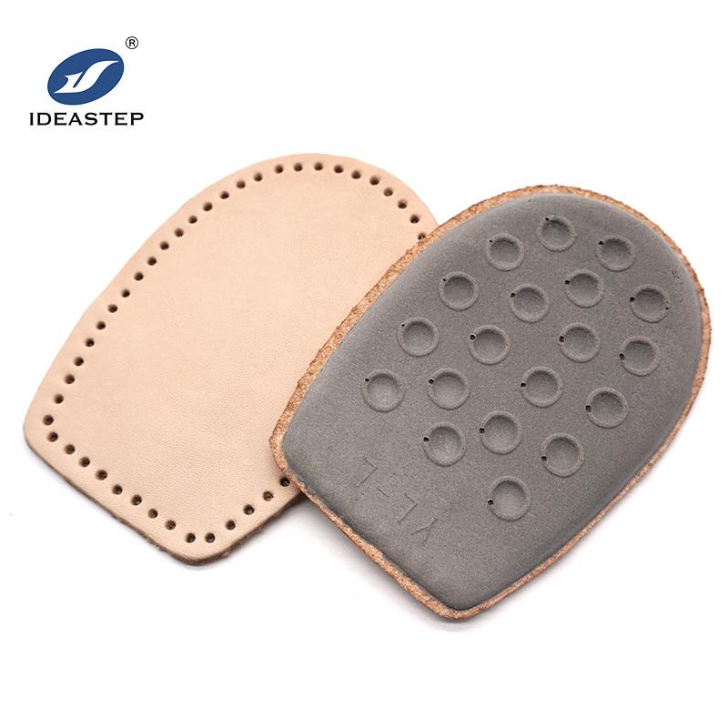 Genuine leather latex foam cushioned orthopedic heel lifts Ideastep #574-8