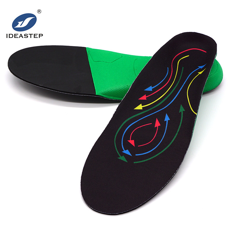 Three arch types profiles high density cushion eva foam arch support running insole Ideastep KO4819#